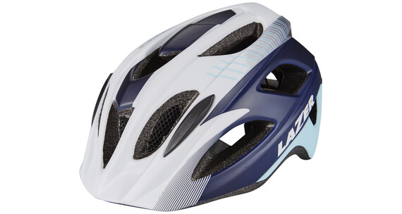 Lazer Beam Helm MIPS white blue stripes